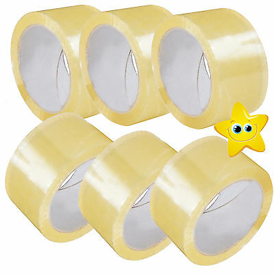 TAPE Rolls Of CLEAR STRONG Parcel Tape Packing sellotape Packaging 48mm x 66m