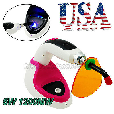 5W 1200MW Wireless LED Dental Curing Light With Light Meter Teeth Whitening-USA