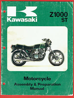 Kawasaki Z 1000 St Assembly And Preparation Manual First Issue 1978