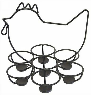 French Country Vintage Inspired Wrought Iron Chicken Egg Holder New