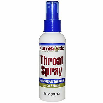 Nutribiotic Natural Throat Spray / Breath Freshener With Grapefruit Seed Extract