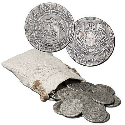 20 Coin Lot Of Old World Style Egyptian Pharoah W/ Scarab 1/2 oz Silver Rounds