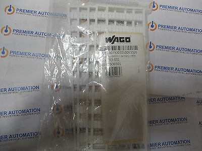 Wago,793-501,793501,id#07930501,blank Terminal Block Markers, 5 Cards/pkg