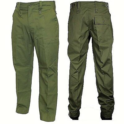 Lightweight Green Combat Trousers British Army Surplus Fatigue