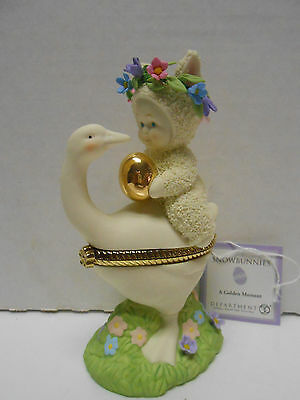 A GOLDEN MOMENT Snowbunnies Lidded Hinged Porcelain Dept 56 New in Box 67965