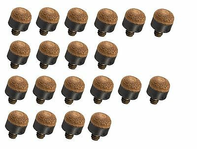 Wholesale price! Set Of 20 Screw In Tips For Wood & Aluminum Pool Cue (13mm)
