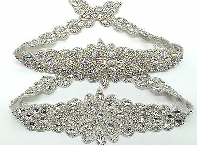 Rhinestone Crystal Diamante Bridal Sash Wedding Dress Belt