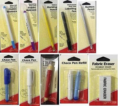 Sew Easy Fabric Markers Labeling Pen Marking Pencil Chaco Pen Fabric Eraser