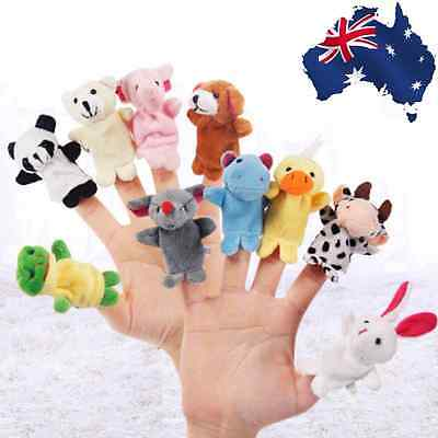 10pcs Finger Puppets Toys  Velvet Small Animals In Garden Baby Doll  GBFIN1081