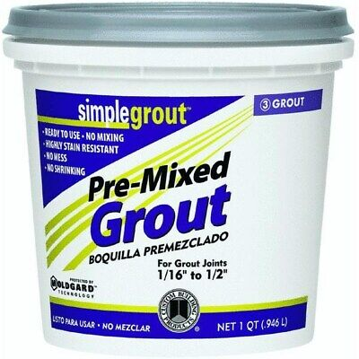 Simplegrout Pre-Mixed Tile Grout,No PMG165QT,  Custom Bldg Products