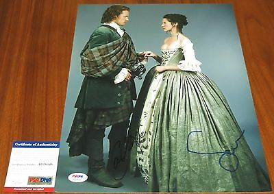 Caitriona Balfe and Sam Heughan Signed 11x14 Outlander Claire Jamie PSA/DNA