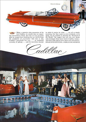 1956 Cadillac Series 62 Convertible Retro A3 Poster Print From Advert 1956
