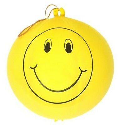 Pack 5 Large 16 inch Punch Ball Balloons Smiley Face Party Bag Fillers, Prizes