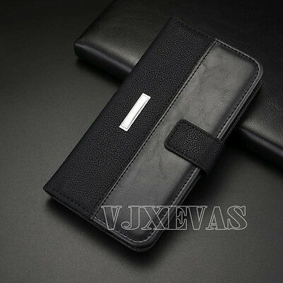 Hybrid Luxury Magnetic Leather Case Flip Stand Wallet Cover For Samsung Galaxy