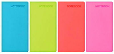 BLUE GREEN SLIM SOFT TOUCH NOTEBOOKS-4 COLOURS TO CHOOSE FROM-PINK LILAC-7666