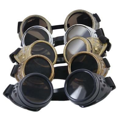 Vintage Victorian Steampunk Goggles Sunglass Welding Cyber Punk Goth Cosplay