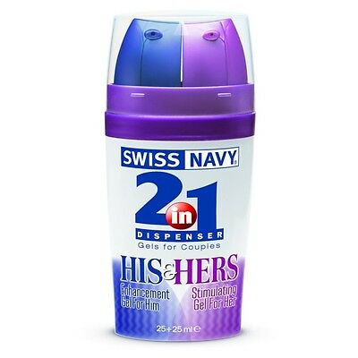 Swiss Navy Distributeur Gel 2 En 1 His & Her