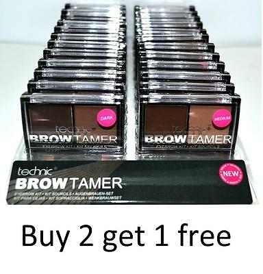 Technic Brow Tamer Dark And Medium Powder Wax Double Ended Brush Eyebrows Kit