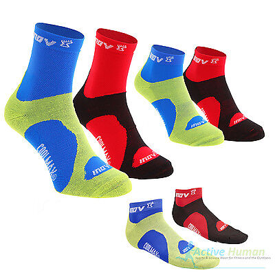 2 Pairs Inov-8 Prosoc Racesoc COOLMAX Sports Running Socks Mens Ladies Inov8