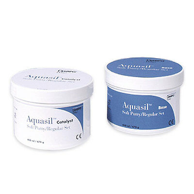 Aquasil Soft Putty Regular Set 2 X 450Ml. Dental Silicone Silicona.
