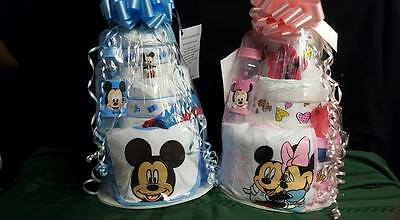 Mickey or Minnie Mouse Diaper Cake Boy or Girl
