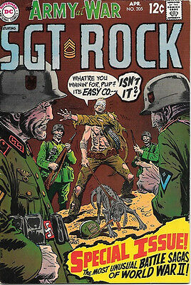 Our Army At War Comic Book #205, DC Comics 1969 FINE