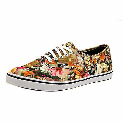 53ff021c27 Vans Authentic Lo Pro Floral Coriander True White Shoes Kids Girls 11.5  Flowers