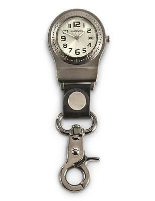 HUMVEE Quick CLIP WATCH Second Date *GLOW TIME HANDS Belt Loop Pocket Key Ring