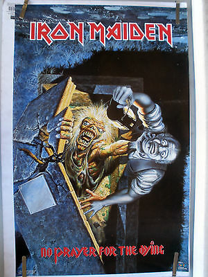 Rare Iron Maiden No Prayer For The Dying 1990 Vintage Original Music Poster