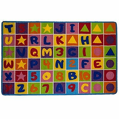 Kid's Rug Numbers & Letters Kid Learning School Boy And Son Room Rug 5' x 7'