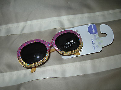NEW_ 100% UV protection Baby/Toddler Girl Pink Sunglasses 12-18 months Stars__B3