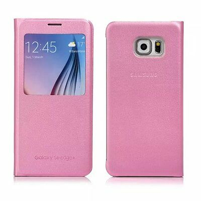New Smart Flip S-VIEW Leather Cover for Samsung Galaxy S7 Edge S6 Plus Case