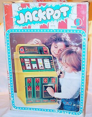 FJ France Jouets JACKPOT SLOT MACHINE Table Top Toy Model for fake Money MIB`65!