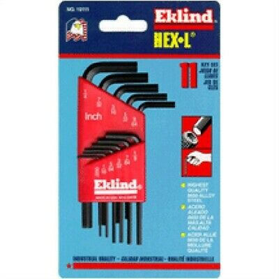 11-Piece Short Arm Hex Key Set,No 10111,  Eklind Tool Co