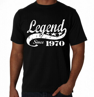 50th Birthday Legend Since 1967 50 Years Old Gift Idea Dad Present Black T Shirt
