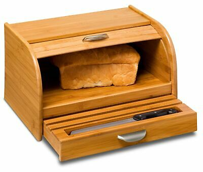 Bamboo Bread Box, by Honey Can Do Intl Inc, (This attractive Bamboo Rolltop Bre)