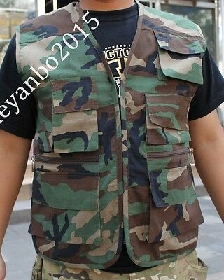 SPORTSWEAR CAMO Camouflage HUNTING VEST TACTICAL FISHING HUNTING VEST