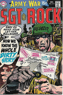 Our Army At War Comic Book #213, DC Comics 1969 FINE+