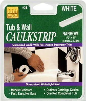 "Myro/ Magic American #15 7/8""x11' White Caulkstrip,No 34015"