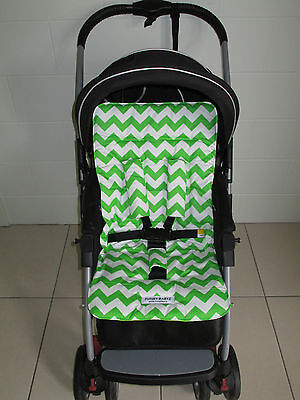 *LIME CHEVRON*universal stroller,pram,car seat liner set *NEW*