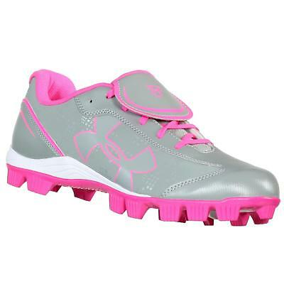 Under Armour Glyde Rm Cc Grey/pink/wht Womens Softball Shoes Us 7 M Euro 38