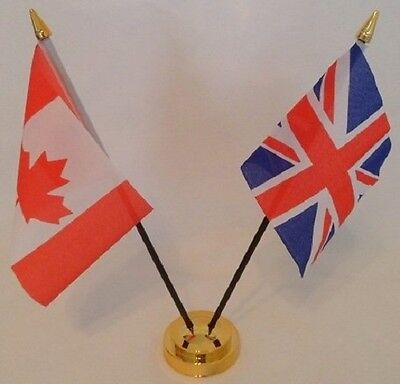 Canada Canadian Union Jack Friendship 2 Flag Flags Table Display Centrepiece