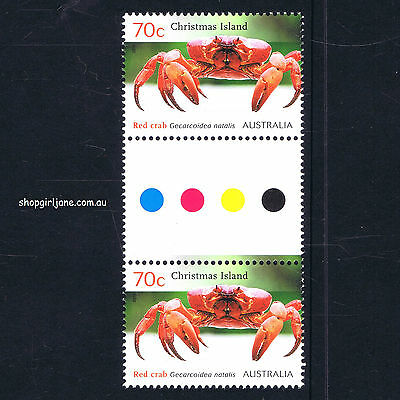 2014 - Australia - Christmas Island - Red Crab Migration - 70¢ gutter pair - MNH