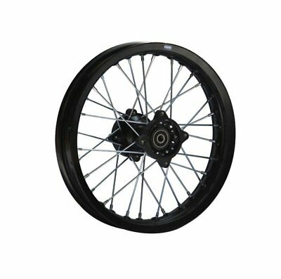 HMParts Pit Bike Dirt Bike  Cross  Alu Felge eloxiert - 1.85x14 schwarz 15 mm T2