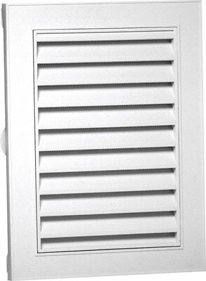 Gable Vent 18x24in White Rect,No 626080-00,  Canplas Inc