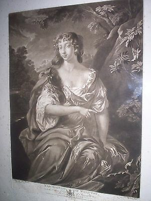 "Quadro Antica Incisione Originale Del 1776 ""richard Earlom"" Cornice Legno"