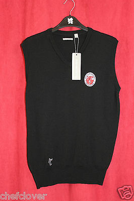 Ashworth Mens Merino Vest Black- Ash Sizes S L