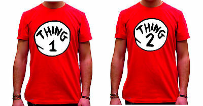 DR SEUSS CAT IN THE HAT THING 1 AND THING 2 T-SHIRT sold seperately