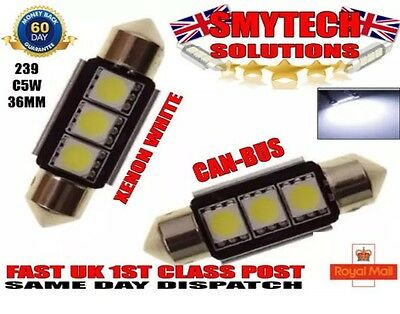 Bright White LED SMD Canbus Range Rover 2nd Gen P38A 94-02 Number Plate Lights