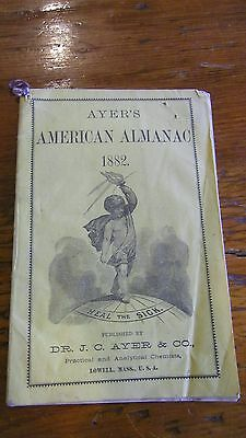 Ayers American Almanac 1882 Lowell Mass.chemists Cure All L@@k